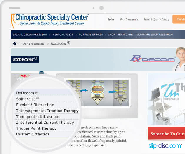 Chiropractic Speciality Center offers the best Slip Disc treatment in Asia