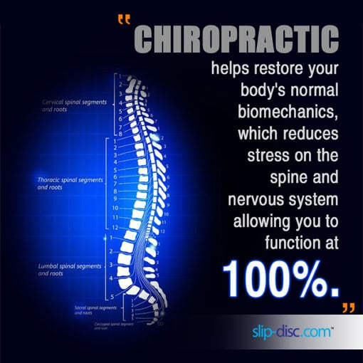 chiropractic treatment can restore your health and improve a slip disc