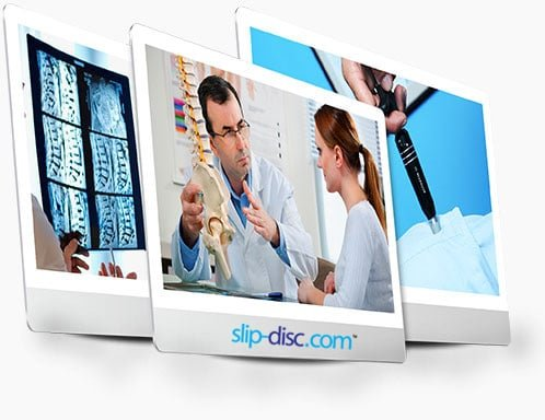 patients review and consultation for physiotherapy and chiropractic treatment of slip disc