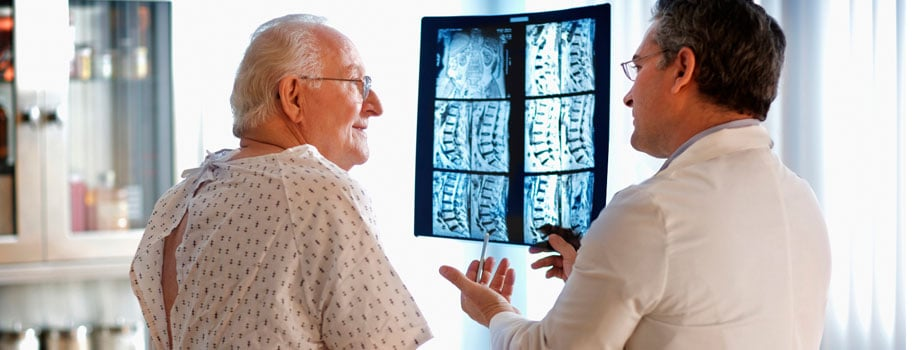 review of slip disc MRI with elderly patient